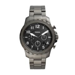 Fossil Men's The Curator Series Smoke Round Stainless Steel Watch - CS5002