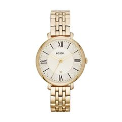 Fossil Women's Jacqueline Gold Round Stainless Steel Watch - ES3434