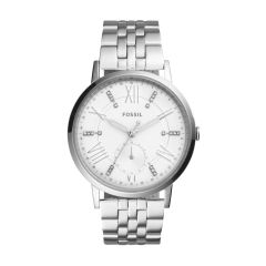 Fossil Women's Gazer Silver Round Stainless Steel Watch - ES4160