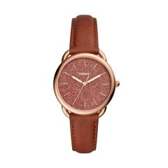 Fossil Women's Tailor Rose Gold Round Leather Watch - ES4420