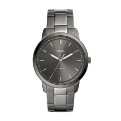 Fossil Men's The Minimalist 3H Smoke Round Stainless Steel Watch - FS5459