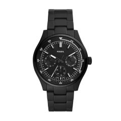 Fossil Men's Belmar Multifunction Black Round Stainless Steel Watch - FS5576