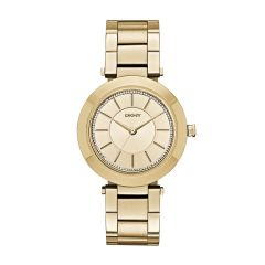 Dkny Women's Stanhope Gold Round Stainless Steel Watch - NY2286
