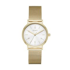 Dkny Women's Minetta Gold Round Stainless Steel Watch - NY2742